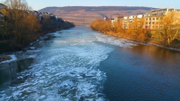 Nahe, Bingen, Rhein, Lampen Henrich, gefroren