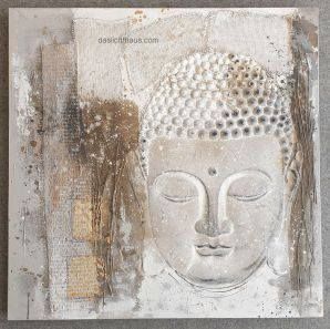 Buddha, Bild, hinterleuchten, LED, Lampen Henrich, daslichthaus.com