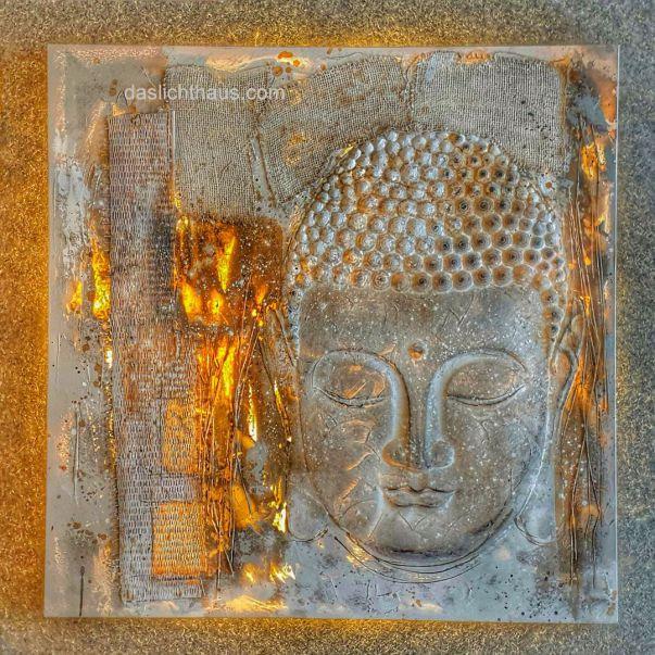 Buddha, Bild, hinterleuchten, LED, Lampen Henrich, daslichthaus.com,