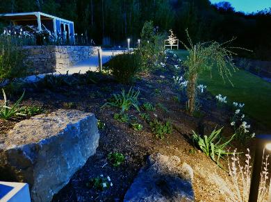 Garten Lichtplanung Lichtkonzept LED Lampen Henrich