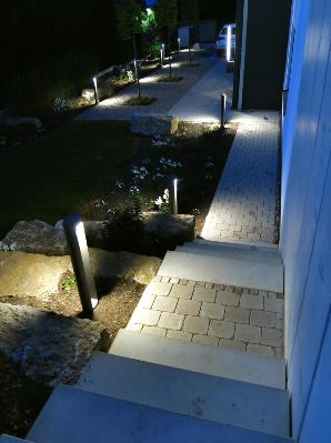 Lichtplanung Lichtkonzept Lampen Henrich Stufenbeleuchtung Poller