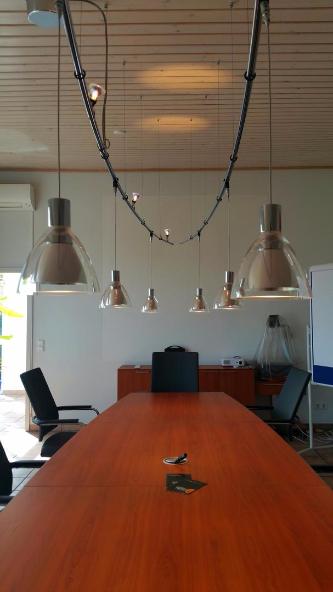 Konferenztisch, Lampen Henrich, daslichthaus, BRUCK, Besprechungstisch