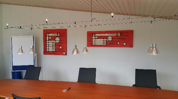 Besprechungstisch, Konferenztisch, Lichtobjekt, daslichthaus, Lampen Henrich